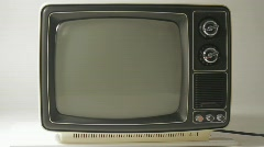 Black and white Television Stock Footage