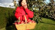 Apple woman Stock Footage