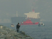 Fisherman, Bosporus Stock Footage