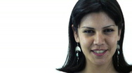 Sexy Brunette Head and shoulders - 4 - Yeah, check it out. Stock Footage