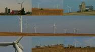 Wind Turbine Montage Stock Footage