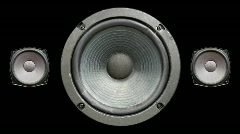 Speaker hifi audio sound technology Stock Footage