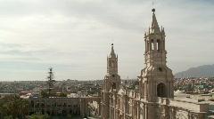 Church In Arequipa, Peru Stock Footage