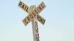 Railroad Crossing Stock Footage