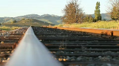 Vineyard Railroad Tracks Stock Footage