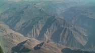 Flight Over The Andes, South America Stock Footage