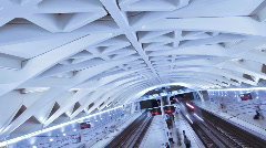 Subway Station in Valencia Stock Footage
