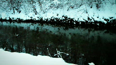 JHD - Winter - Snow At A Brook 00053 Stock Footage