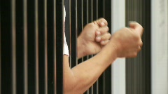 Man In Jail Stock Footage