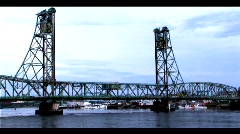 Draw Bridge - stock footage