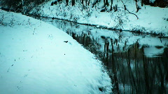 JHD - Winter - Snow At A Brook 00057 Stock Footage