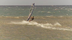 Fitness, windsurfers, Maui, #7 jump and out of frame Stock Footage
