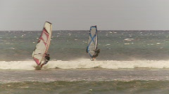 Fitness, windsurfers, Maui, #6 nice jump, among other windsurfers Stock Footage