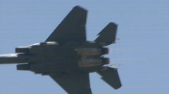 F-15 Strike Eagle, Jet Fighter At Airshow - stock footage