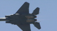 Stock Video Footage of F-15 Strike Eagle, Jet Fighter At Airshow