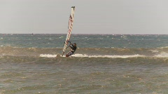 Fitness, windsurfers, Maui, #4 Riding fast and out of frame Stock Footage
