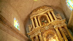 Pompous Church, South America, inside Stock Footage