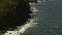 Rocky shoreline and surf, north shore Maui, #3 Stock Footage