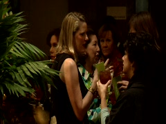 Cocktail Party Society Woman HD - stock footage