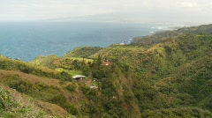 Maui, north shore steep valley, pan Stock Footage