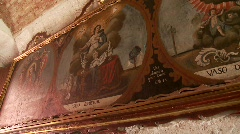Stock Video Footage of Old Oil Painting (monastery santa catalina)