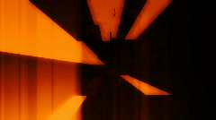 Geometric Deep Orange Looping Background - stock footage