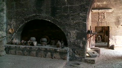 Kitchen In Abbey (Santa Catalina) Stock Footage