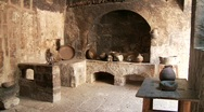 Stock Video Footage of Kitchen In Abbey (Santa Catalina)