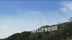 Hollywood Sign - stock footage