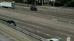 Urban Freeway Traffic Stock Footage