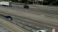 Stock Video Footage of Urban Freeway Traffic