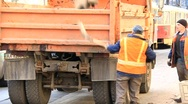 Street cleaning Stock Footage