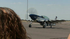 P-51 Mustang, World War Two Fighter Plane At Airshow Stock Footage