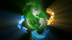 Environmental conservation, recycling, loop Stock Footage