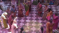 Holi Festival, women dancing, Uttar Pradesh State India, Stock Footage