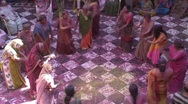 Stock Video Footage of Holi Festival, women dancing, Uttar Pradesh State India,