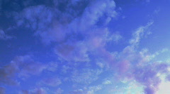Clouds colored Stock Footage