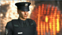 Police Officer in Bullet Proof Vest Stock Footage