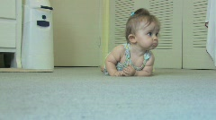 Baby Playing Crawling - stock footage