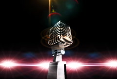 Microphone with horisontal flares Stock Footage