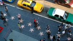 Hollywood stars crowd Stock Footage