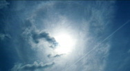 Stock Video Footage of Timelapse of clouds moving over shining sun . HD quality.