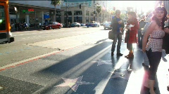 Hollywood Boulevard timelapse - stock footage