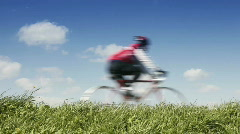 springtime cycling - stock footage