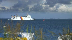 Fery to Föhr, Nordsee, Germany Stock Footage