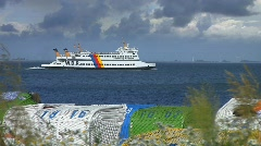 Ferry, Nordsee, Germany Stock Footage