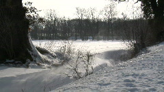 Winter at the Coast in Germany 01 Stock Footage