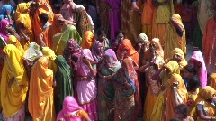 Holi Festival, Uttar Pradesh ( State ) India, Stock Footage