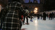 Stock Video Footage of Ice Skating in Bryant Park in New York City