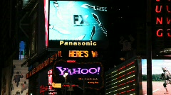 Times Square News Screen in New York - stock footage